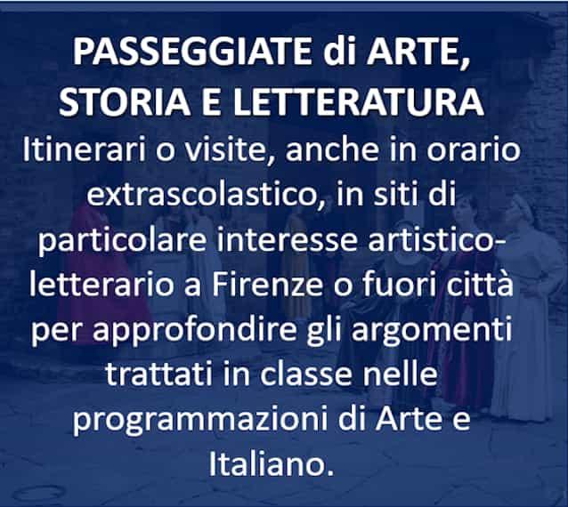 PASSEGGIATE di ARTE, STORIA E LETTERATURA
