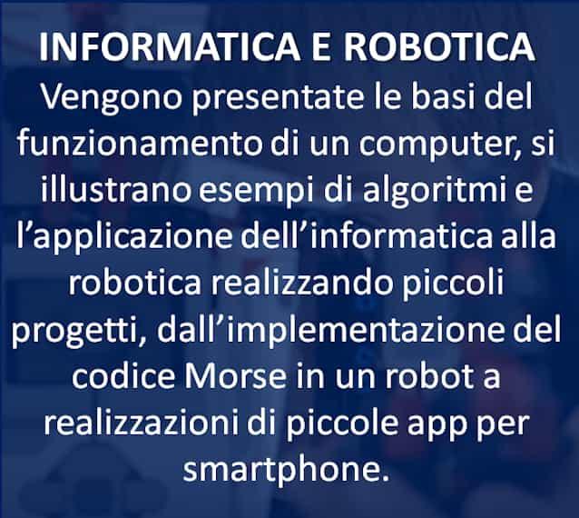 INFORMATICA E ROBOTICA
